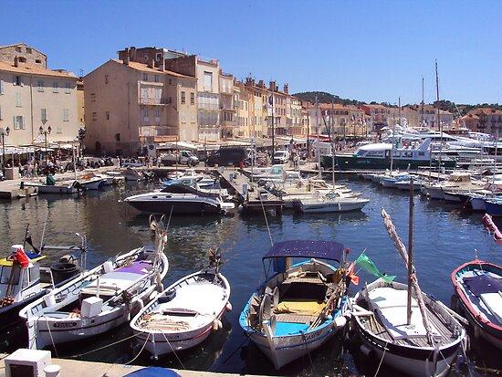 Trendy St.Tropez Harbour by biddumy