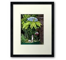 Sporty Fern on a Rainy Day Framed Print
