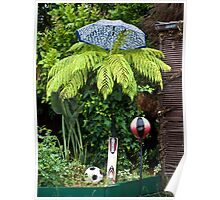 Sporty Fern on a Rainy Day Poster