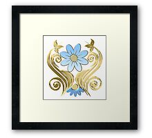 Blue flower Framed Print