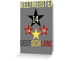 Weltmeister Deutschland Greeting Card