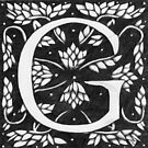 """Art Nouveau """"G"""" (William Morris inspired) by Donna Huntriss"""