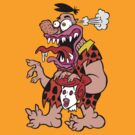 Freaked Out Flintstone by Ross Radiation
