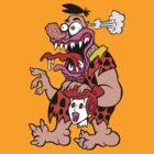 Freaked Out Flintstone by Ross Radiation