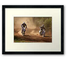 Dust riders - high country Framed Print