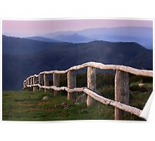 High country fence - Mt Strirling Poster
