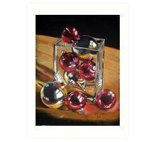 Ornaments, Christmas Art Print