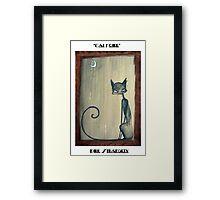 Dirk Strangely's CAT NOIRE Framed Print