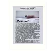 """Desolation's Parable"" my journey Art Print"