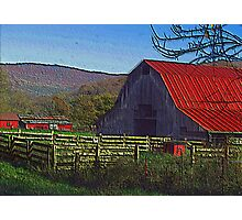 Boxley Valley Farmstead Photographic Print