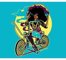 Afro Bike Love Photographic Print