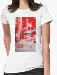 Protection - Abstract Painting Womens Fitted T-Shirt