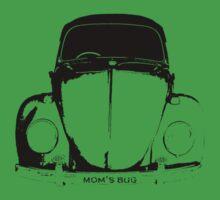 VW Beetle - Black mom's bug - personalized Baby Tee