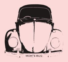 VW Beetle - Black mom's bug - personalized Kids Clothes