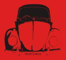 VW Beetle - Black mom's bug - personalized Kids Tee