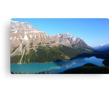 Peyto Lake panorama Canvas Print