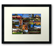 Willunga houses and community Framed Print
