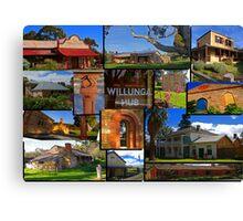 Willunga houses and community Canvas Print