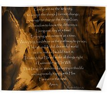 The Serenity Prayer - Abstract painting background Poster