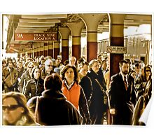 """Boston Commuters"" - Coming Off the ""T"" - *Featured Poster"