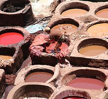 Tanning Moroccan style (Fez tannery, Morocco) by Christine Oakley