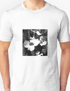 Dogwood flower black white Unisex T-Shirt
