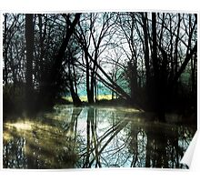Reflections Of  A Cold Dark Winters Day Poster