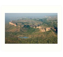 Arnhem Land cliffs from air Art Print