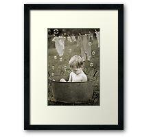 Wash Day Framed Print