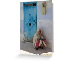 Don't ask me to tell (Chefchaouen, Morocco) Greeting Card
