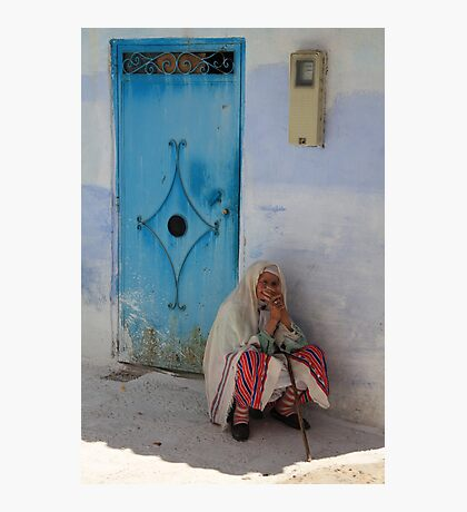 Don't ask me to tell (Chefchaouen, Morocco) Photographic Print