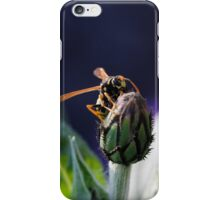 wasp on flower iPhone Case/Skin
