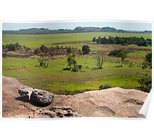 Ubirr rock view, Kakadu NP, NT Poster