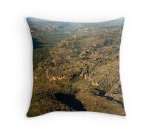 Arnhem Land cliffs from air Throw Pillow