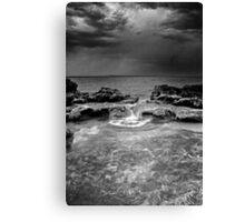 stormy weather - jervis bay australia Canvas Print