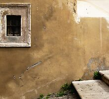 Window, Wall, Stair - Rome by Erin Kanoa