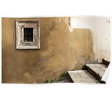 Window, Wall, Stair - Rome Poster