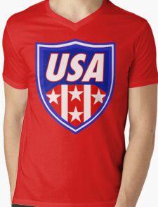 Usa Shield  Mens V-Neck T-Shirt