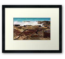 Tidal Incoming Framed Print