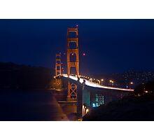SF Golden Gate Bridge at Twilight Photographic Print