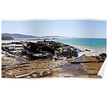 Coastline Rocks Poster