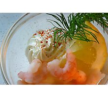 Shrimps Fresh and Delicious Photographic Print