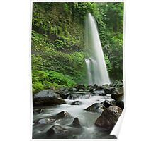 Down stream from the Sendang Gila waterfall  Poster
