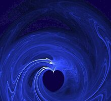 """Blue blue Heart"" - Fractal by scatharis"