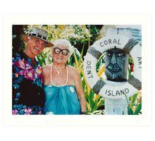 Bill & Lean Wallace Dent Island © Vicki Ferrari Photography Art Print