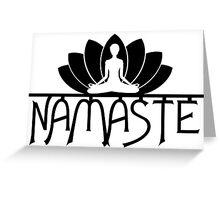 Namaste Yoga Lotus Flower Greeting Card
