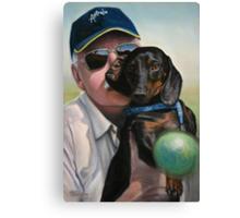 """Self Portrait - """"Dad"""" with Dexter Canvas Print"""