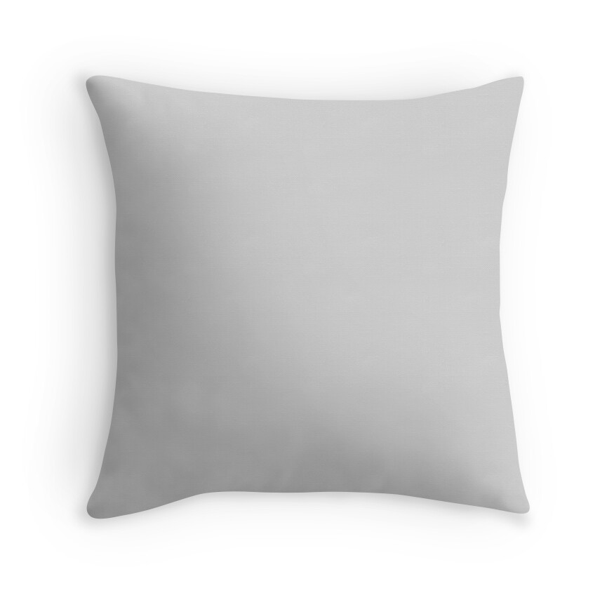 Light Gray Decorative Pillow :