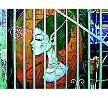 Her Behind Bars Photographic Print