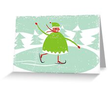 boy skiing Greeting Card